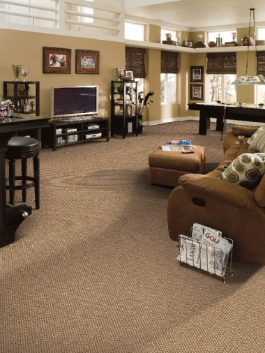 Nylon and Polyester Fiber Carpeting