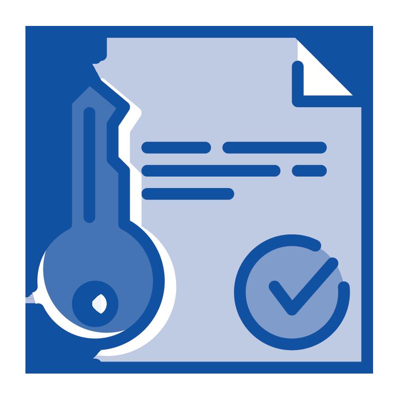 1-year warranty icon
